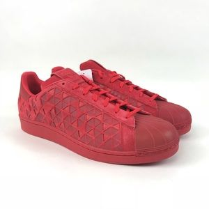 Adidas Mens XENO Superstar Reflective Red Sneakers